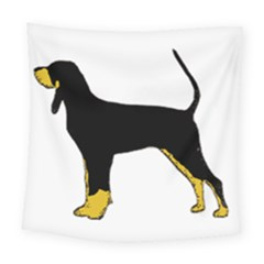 Black And Tan Coonhound Silo Color Square Tapestry (Large)
