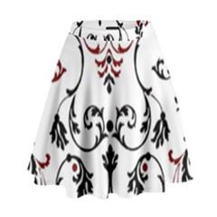 Ornament  High Waist Skirt