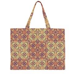 Vintage Ornate Baroque Zipper Large Tote Bag