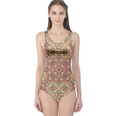 Vintage Ornate Baroque One Piece Swimsuit