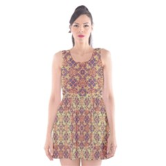 Vintage Ornate Baroque Scoop Neck Skater Dress