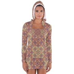 Vintage Ornate Baroque Women s Long Sleeve Hooded T-shirt