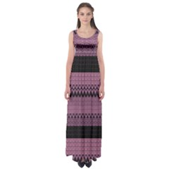 Pattern Empire Waist Maxi Dress