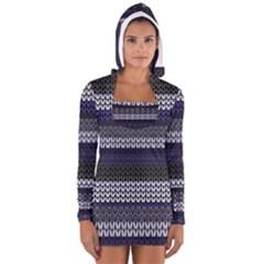 Pattern Women s Long Sleeve Hooded T Shirt