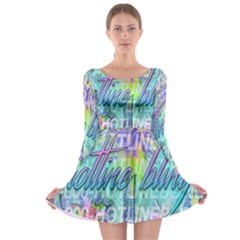 Drake 1 800 Hotline Bling Long Sleeve Skater Dress