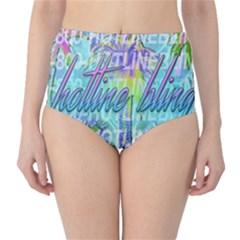 Drake 1 800 Hotline Bling High-Waist Bikini Bottoms