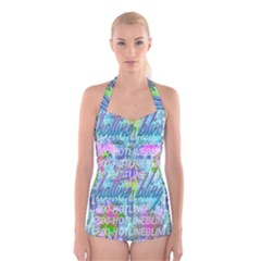 Drake 1 800 Hotline Bling Boyleg Halter Swimsuit