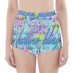 Drake 1 800 Hotline Bling High-Waisted Bikini Bottoms