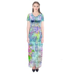 Drake 1 800 Hotline Bling Short Sleeve Maxi Dress