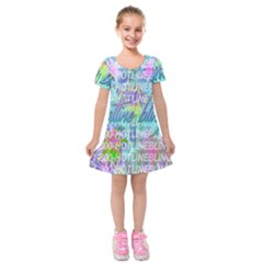 Drake 1 800 Hotline Bling Kids  Short Sleeve Velvet Dress