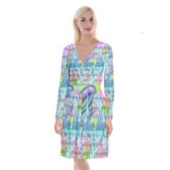 Drake 1 800 Hotline Bling Long Sleeve Velvet Front Wrap Dress