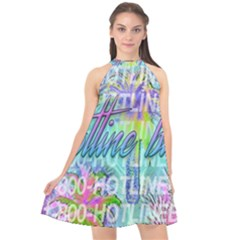 Drake 1 800 Hotline Bling Halter Neckline Chiffon Dress