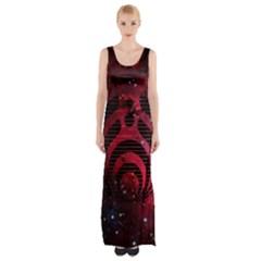 Bassnectar Galaxy Nebula Maxi Thigh Split Dress