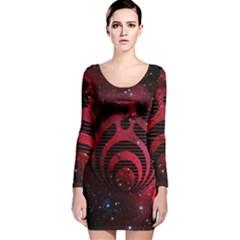 Bassnectar Galaxy Nebula Long Sleeve Velvet Bodycon Dress