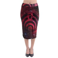Bassnectar Galaxy Nebula Midi Pencil Skirt