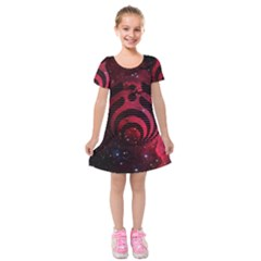 Bassnectar Galaxy Nebula Kids  Short Sleeve Velvet Dress