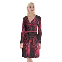 Bassnectar Galaxy Nebula Long Sleeve Velvet Front Wrap Dress