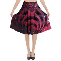 Bassnectar Galaxy Nebula Flared Midi Skirt