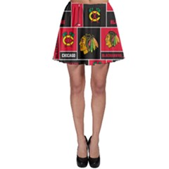 Chicago Blackhawks Nhl Block Fleece Fabric Skater Skirt