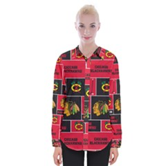 Chicago Blackhawks Nhl Block Fleece Fabric Shirts