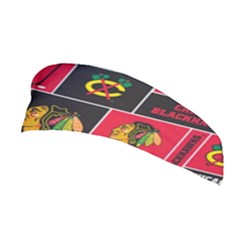 Chicago Blackhawks Nhl Block Fleece Fabric Stretchable Headband