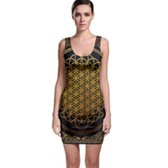 Bring Me The Horizon Cover Album Gold Sleeveless Bodycon Dress