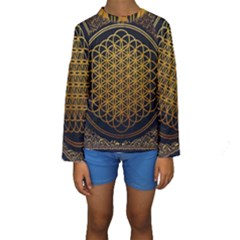 Bring Me The Horizon Cover Album Gold Kids  Long Sleeve Swimwear