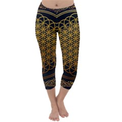 Bring Me The Horizon Cover Album Gold Capri Winter Leggings