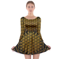 Bring Me The Horizon Cover Album Gold Long Sleeve Skater Dress