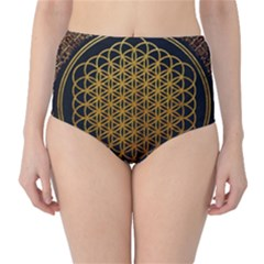 Bring Me The Horizon Cover Album Gold High-Waist Bikini Bottoms