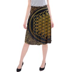 Bring Me The Horizon Cover Album Gold Midi Beach Skirt