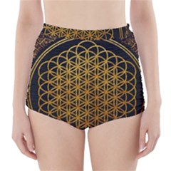 Bring Me The Horizon Cover Album Gold High-Waisted Bikini Bottoms