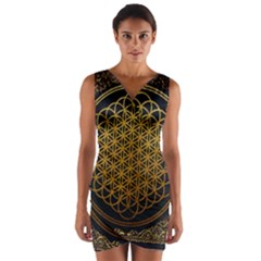 Bring Me The Horizon Cover Album Gold Wrap Front Bodycon Dress