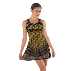 Bring Me The Horizon Cover Album Gold Cotton Racerback Dress