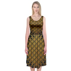 Bring Me The Horizon Cover Album Gold Midi Sleeveless Dress