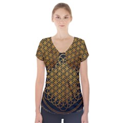 Bring Me The Horizon Cover Album Gold Short Sleeve Front Detail Top