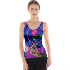 Enchanted Rose Stained Glass Tank Top
