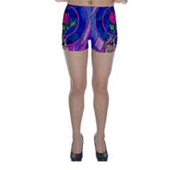 Enchanted Rose Stained Glass Skinny Shorts