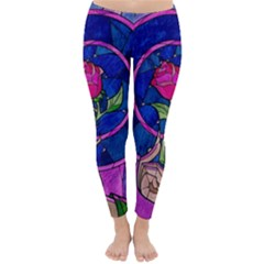 Enchanted Rose Stained Glass Classic Winter Leggings