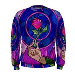 Enchanted Rose Stained Glass Men s Sweatshirt