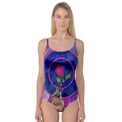 Enchanted Rose Stained Glass Camisole Leotard