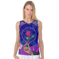 Enchanted Rose Stained Glass Women s Basketball Tank Top