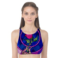 Enchanted Rose Stained Glass Tank Bikini Top