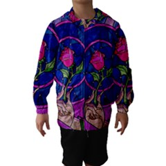 Enchanted Rose Stained Glass Hooded Wind Breaker (Kids)