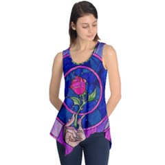 Enchanted Rose Stained Glass Sleeveless Tunic