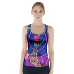 Enchanted Rose Stained Glass Racer Back Sports Top