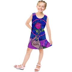 Enchanted Rose Stained Glass Kids  Tunic Dress