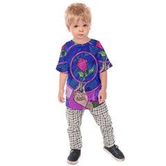 Enchanted Rose Stained Glass Kids  Raglan Tee