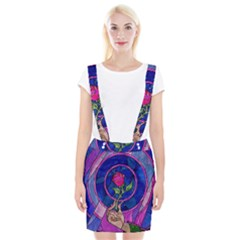 Enchanted Rose Stained Glass Braces Suspender Skirt
