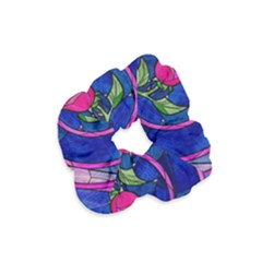 Enchanted Rose Stained Glass Velvet Scrunchie